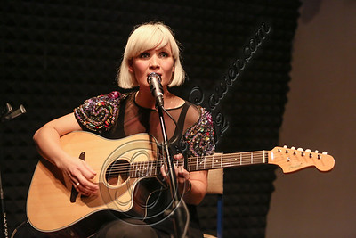 LOS ANGELES, CA - OCTOBER 09:  Musician Sharin Foo of The Raveonettes performs at Sonos Studio on October 9, 2012 in Los Angeles, California.  (Photo by Chelsea Lauren/WireImage)