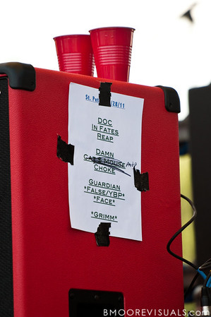 Set list for The Red Jumpsuit Apparatus' performance on May 28, 2011 during 97X Backyard BBQ at Vinoy Park in St. Petersburg, Florida