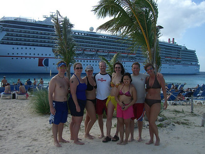 The gang on the beach at Grand Turk.