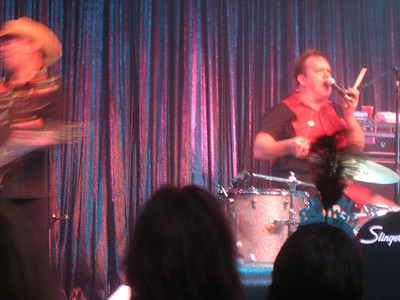 Fred, the drummer and singer from Cowboy Mouth.