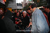 """Director, Albert Maysles, taping some outside scenes at the Beacon Theater in NY, Oct 2006, for Martin Scorsese's Rolling Stones movie, """"Shine A Light"""". Mike Karis is the sound guy."""