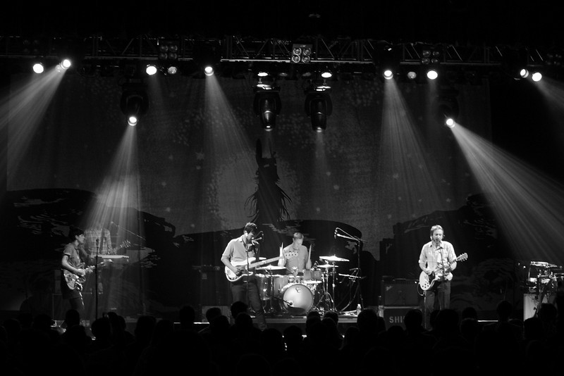 """The Shins<br /> Kiva Auditorium<br /> Albuquerque, NM<br /> Oct 4, 2012<br /> <br /> """"...I learned fast how to keep my head up 'cause I know there is this side of me that wants to grab the yolk from the pilot and just fly the whole mess into the sea..."""""""