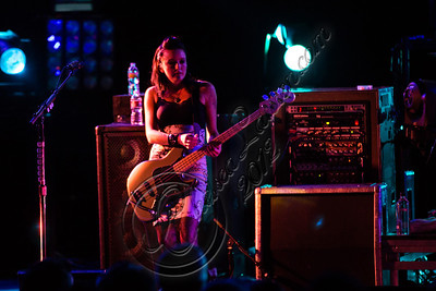 UNIVERSAL CITY, CA - OCTOBER 14:  Bassist Nicole Fiorentino of The Smashing Pumpkins performs at Gibson Amphitheatre on October 14, 2012 in Universal City, California.  (Photo by Chelsea Lauren/WireImage)