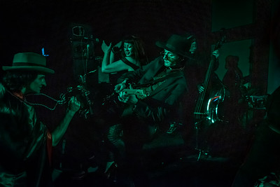 Tristan Gilligan performing witht e URban Voodoo Machine at Mirth Marvel & Maud last night