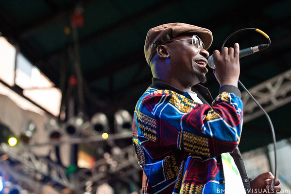 Esau Mwamwaya of The Very Best performs on October 12, 2010 at Jannus Live in St. Petersburg, Florida.