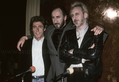 "WHO_lp_1033 The Who hold a press conference at Radio City Music Hall, New York City, April 1989 to announce their upcoming performance of their classic Rock Opera ""Tommy"" Photo ©Laurie Paaldino 1989"