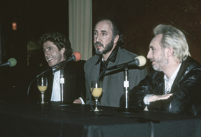 "WHO_lp_1031 The Who hold a press conference at Radio City Music Hall in New York City April 24 1989 to discuss their upcoming performance of their classic Rock Opera ""Tommy"" Photo ©Laurie Paladino 1989"