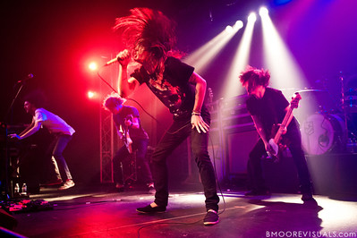 "Dusty Riach, Zack Hansen, Tyler ""Telle"" Smith, and Nick Urlacher of The Word Alive perform on November 26, 2010 at The Ritz in Ybor City, Tampa, Florida"