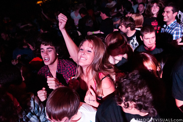 The crowd at The Word Alive's show on November 26, 2010 at The Ritz in Ybor City, Tampa, Florida