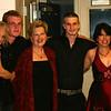 a backstage group hug - Sue B, Lukas G, Karen P, Danny P, Cindy V, Damian W