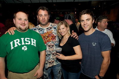 Jerimiah Robuck, WIll Weisman, Anne Haun and Travis Gregg of Oxford, OH at Bogart's on Sunday for Three Days Grace