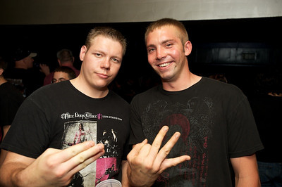James Parker and Nick Sabato of Colerain at Bogart's on Sunday for Three Days Grace