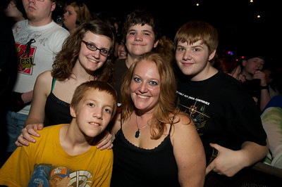 Amber, Thomas, Kody, Dylan and Angel from Pleasant Plain, OH at Bogart's on Sunday for Three Days Grace