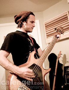 In the studio with Thrice as they record Beggars in California, April 2009