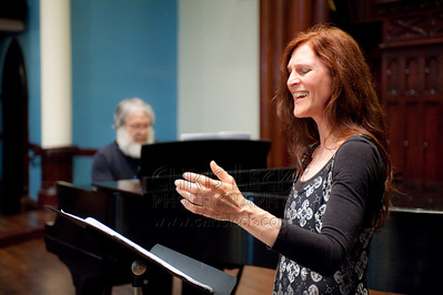 Nancy Wood and Jeff Winslow rehearse 'The Silvered Lute: A Wang Wei Song Album.' Composer: Derek Healey