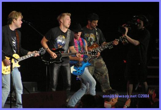 The guys jamming
