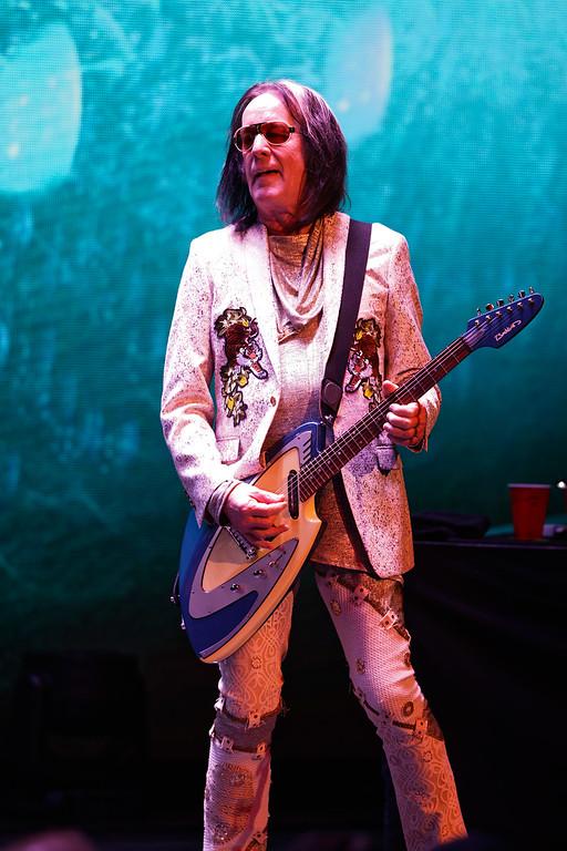 . Todd Rundgren\'s Utopia  live at Fillmore Detroit on 5-17-18. Photo  credit: Ken Settle