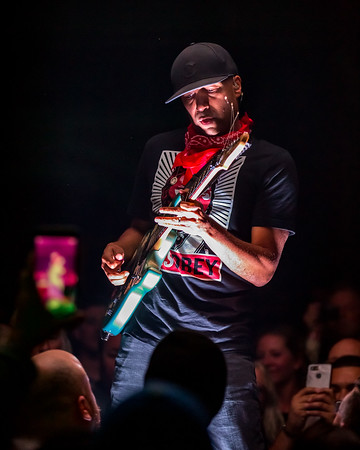 Tom Morello at the Old National Centre in Indianapolis, IN. Photo by Tony Vasquez for Badass Productions.