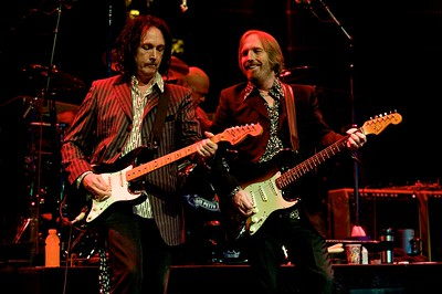 Mike Campbell, Steve Ferrone and Tom Petty