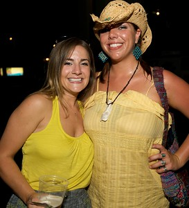 Emily Hale and Katie Webb of Huntington, WV at Riverbend Thursday for Tom Petty and the Heartbreakers