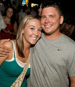 Jessica Tubbs and Lucas Kiley of Cincinnati at Riverbend Thursday for Tom Petty and the Heartbreakers