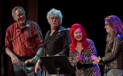 Tom Chapin, Tom Rush, Kate Pierson (B-52's) and Lucy Kaplansky performing at Tarrytown Music Hall, Tarrytown, NY, 6/18/16.