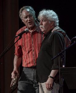 Tom Chapin and Tom Rush performing a at Tarrytown Music Hall, Tarrytown, NY, 6/18/16.