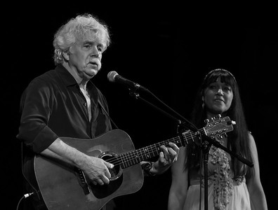 Tom Rush and Maura Kennedy performing at Tarrytown Music Hall, Tarrytown, NY, 6/18/16.
