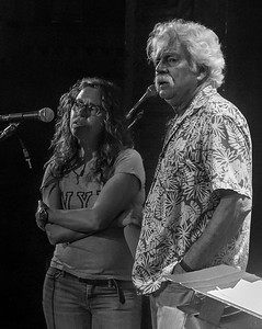 Tom Rush and Lucy Kaplansky durng sound check at Tarrytown Music Hall, Tarrytown, NY.  June, 18, 2016.