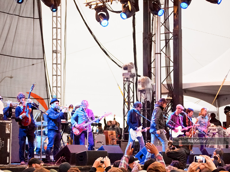 Broken Social Scene<br /> 11 musicians playing in this shot