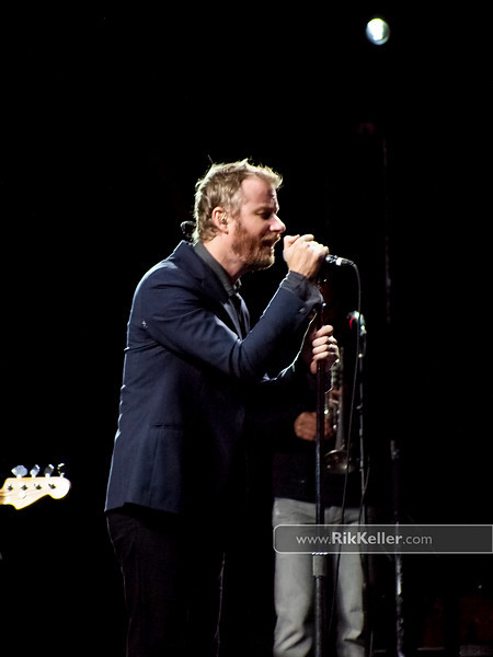 """Matt Berninger of The National<br /> """"showered and blue-blazered, fill yourself with quarters"""" (from """"Mistaken For Strangers"""")"""
