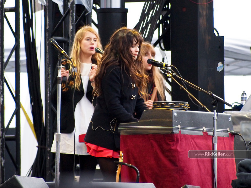 Zooey Deschanel (middle) of She & Him