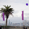 "Robert Bose's ""Balloon Chain"" in front of the San Francisco skyline<br /> <a href=""http://balloonchain.com"">http://balloonchain.com</a>"