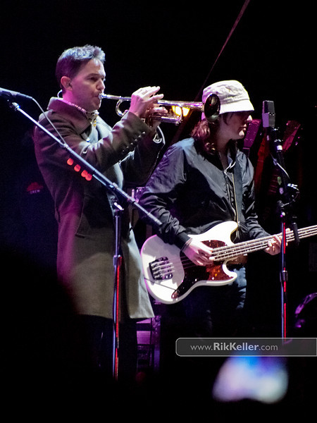 Mick Cooke (L) and Bobby Kildea (R) of Belle & Sebastian
