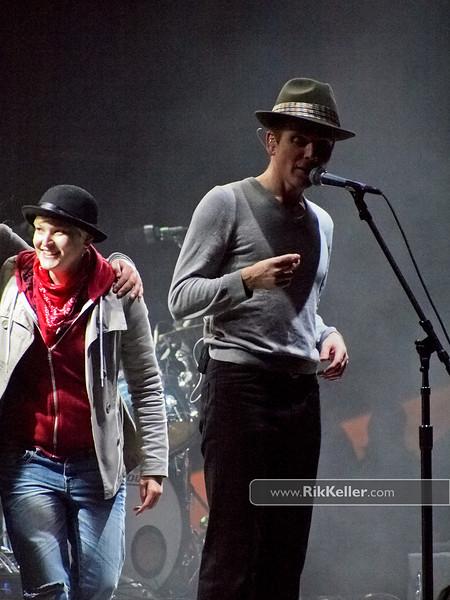 Stuart Murdoch of Belle & Sebastian joined by fans onstage