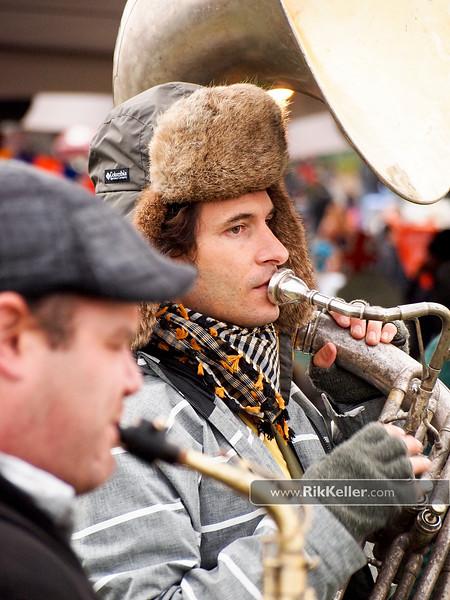 tuba player in Brass Mafia