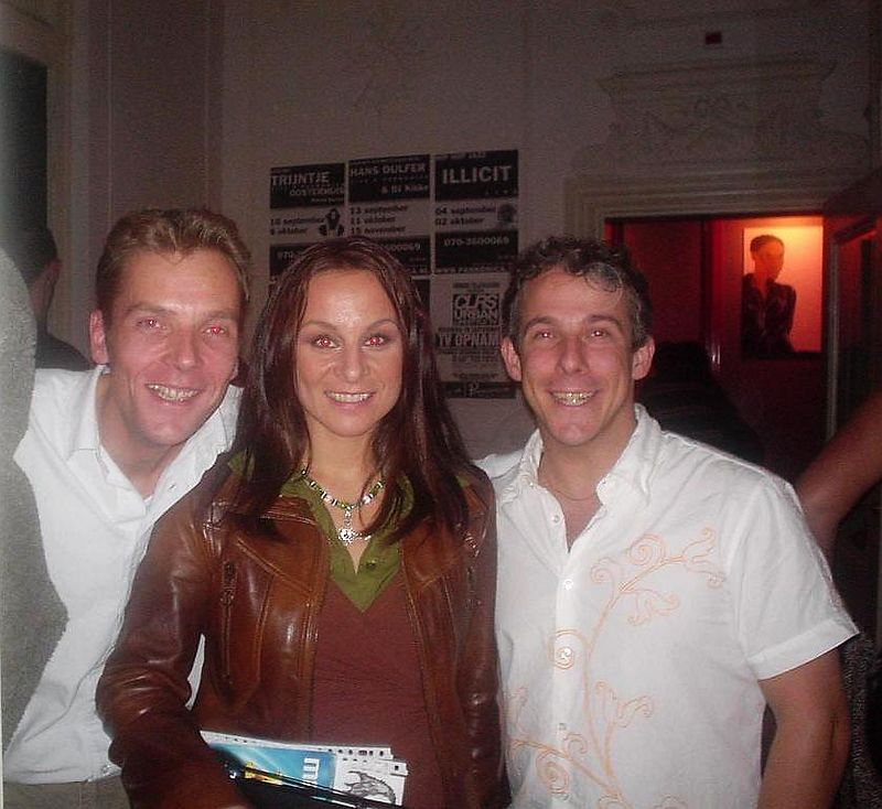 Marc, Trijntje Oosterhuis and I. (She's cute and just the same size as I am! LOL)