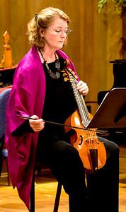 Deborah Dunham playing treble viol