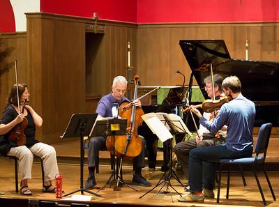 Sophia Silvos, Norman Fischer, James Dunham, and Oleg Sulyga