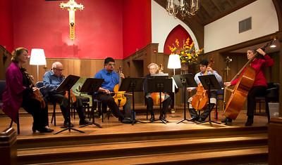 Viols of Houston rehearsing William Lawes Sunrise Fantasy