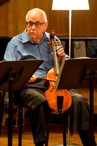 Carter Crawford playing treble viol