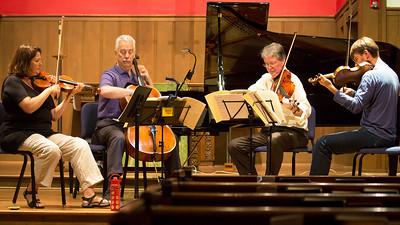 Rehearsing Haydn's Sunrise Quartet