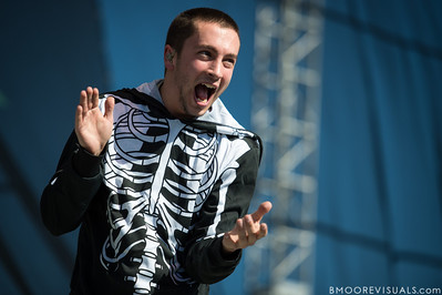 Tyler Joseph of Twenty One Pilots performs on December 1, 2012 during 97X Next Big Thing at Vinoy Park in St. Petersburg, Florida