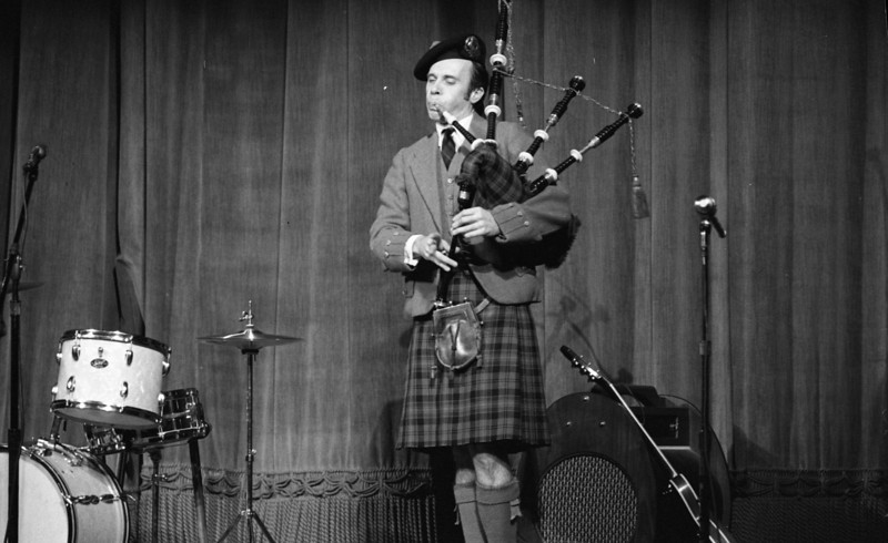 George Armstrong and his bagpipe music started the festival for many years.