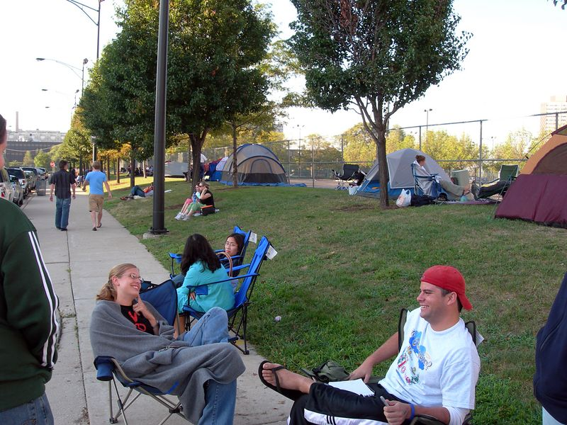 Early morning in the GA line outside the United Center