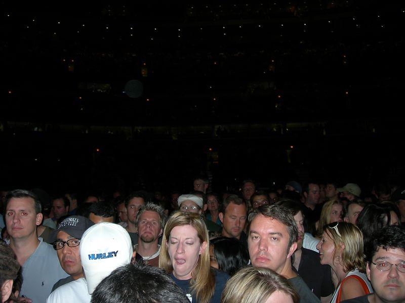 GA crowd outside the ellipse