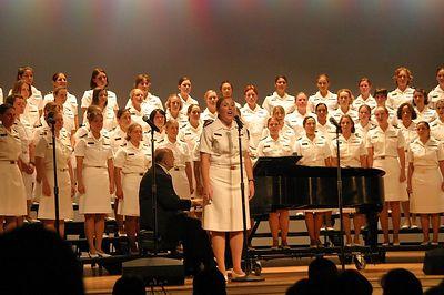 Sara and the Womens Glee Club at Mahan Hall