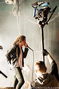 Spencer Chamberlain of Underoath performs during their final show on January 26, 2013 at Jannus Live in St. Petersburg, Florida