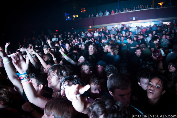 The hometown crowd welcomes Underoath as they perform in support of Ø (Disambiguation) on November 26, 2010 at The Ritz in Ybor City, Tampa, Florida
