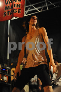 Aug 23, 2009-Carson, California, USA-Musician, NAT MOTTE, of the band, 3OH!3, on stage, closing night, Vans Warped Tour 2009, Home Depot Center, Carson, California.   (Credit Image: cr Scott Mitchell/ZUMA Press)